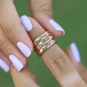 Love Braids Name Ring [Rose Gold Plated]