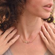 Roots of Love Necklace Horizontal [Gold Plated]