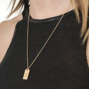 Classic Bar Initial Necklace [14K Gold Plated]