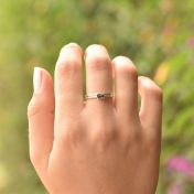 Carina Ring. Baguette Horizontal [Sterling Silver]