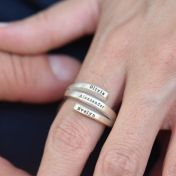 Sunbird Ring - 3 names [Sterling Silver]