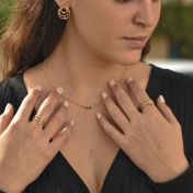 Talisa Stars Necklace Horizontal [10K Gold]