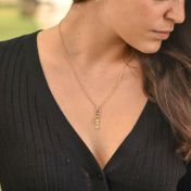 Talisa Stars Necklace Vertical [Gold Plated]