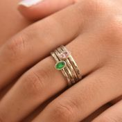 Carina Ring. Oval Vertical Hammered [Sterling Silver]