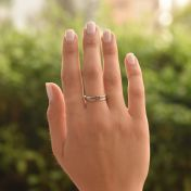 Carina Ring. Oval Horizontal Hammered [Sterling Silver]
