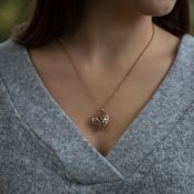 Talisa Hearts Necklace [Rose Gold Plated]
