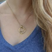 Spheres of Love Necklace Hammered [Gold Plated]