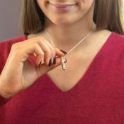 Talisa Sky Birthstone Necklace [Sterling Silver]