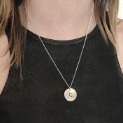 Classic Round Initial Braille Necklace [Sterling Silver]