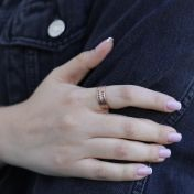 Talisa Classic Name Ring [Rose Gold Plated]