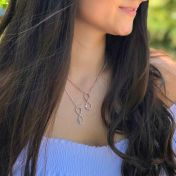 Infinity Birthstone Necklace [Sterling Silver]