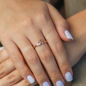 3D Initial Ring [Rose Gold Plated]