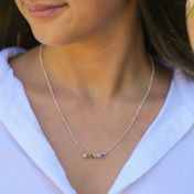 Heart and Home Birthstone Necklace [Sterling Silver]
