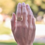 Sunbird Ring - 4 Names [Gold Plated]