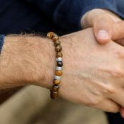 Brown Tiger Eye Men Name Bracelet