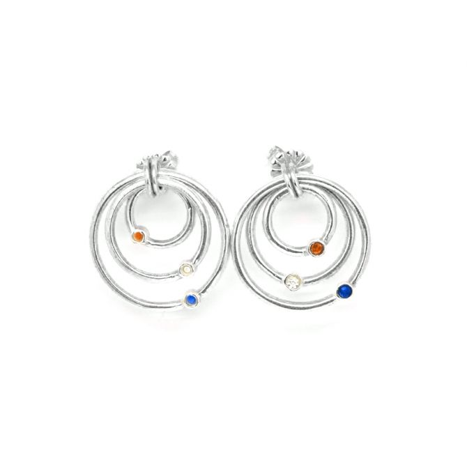 Spheres of Love Earrings [Sterling Silver]
