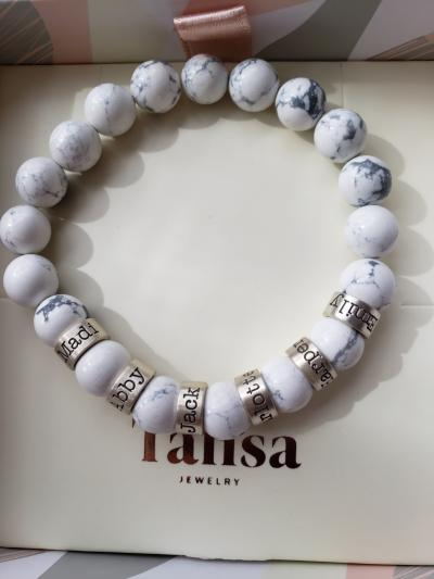 Howlite Men Name Bracelet