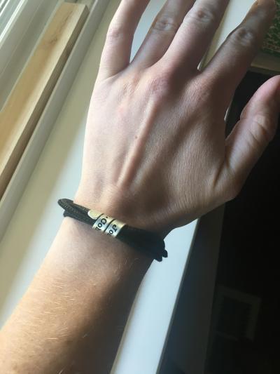 Bracelet Famille avec Prénoms pour Femme - Argent 925 [Daim Noir]