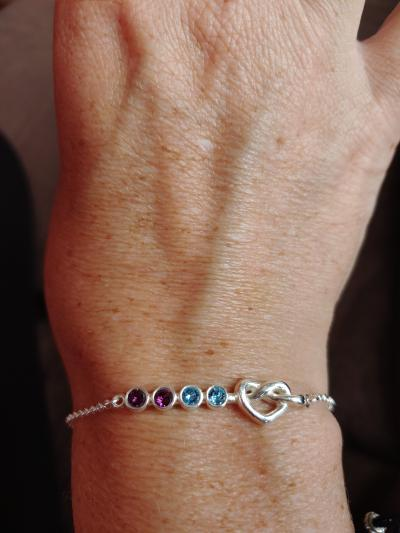 Ties of the Heart Birthstone Bracelet [Sterling Silver]