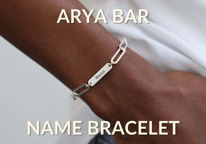 Arya Bar Name Bracelet