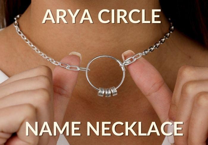 Arya Circle Name Necklace