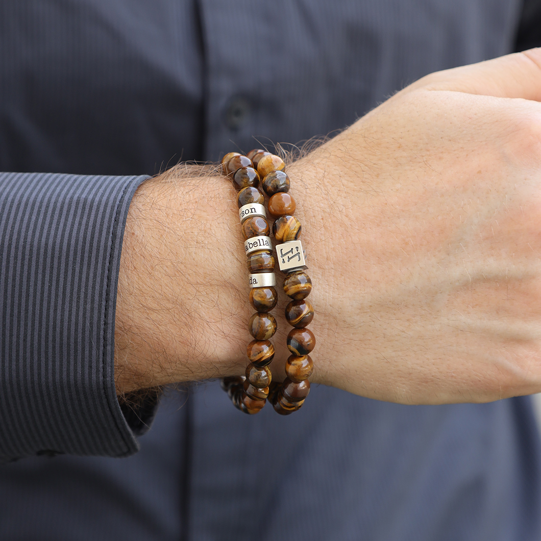 Brown Tiger Eye Men's Bracelet