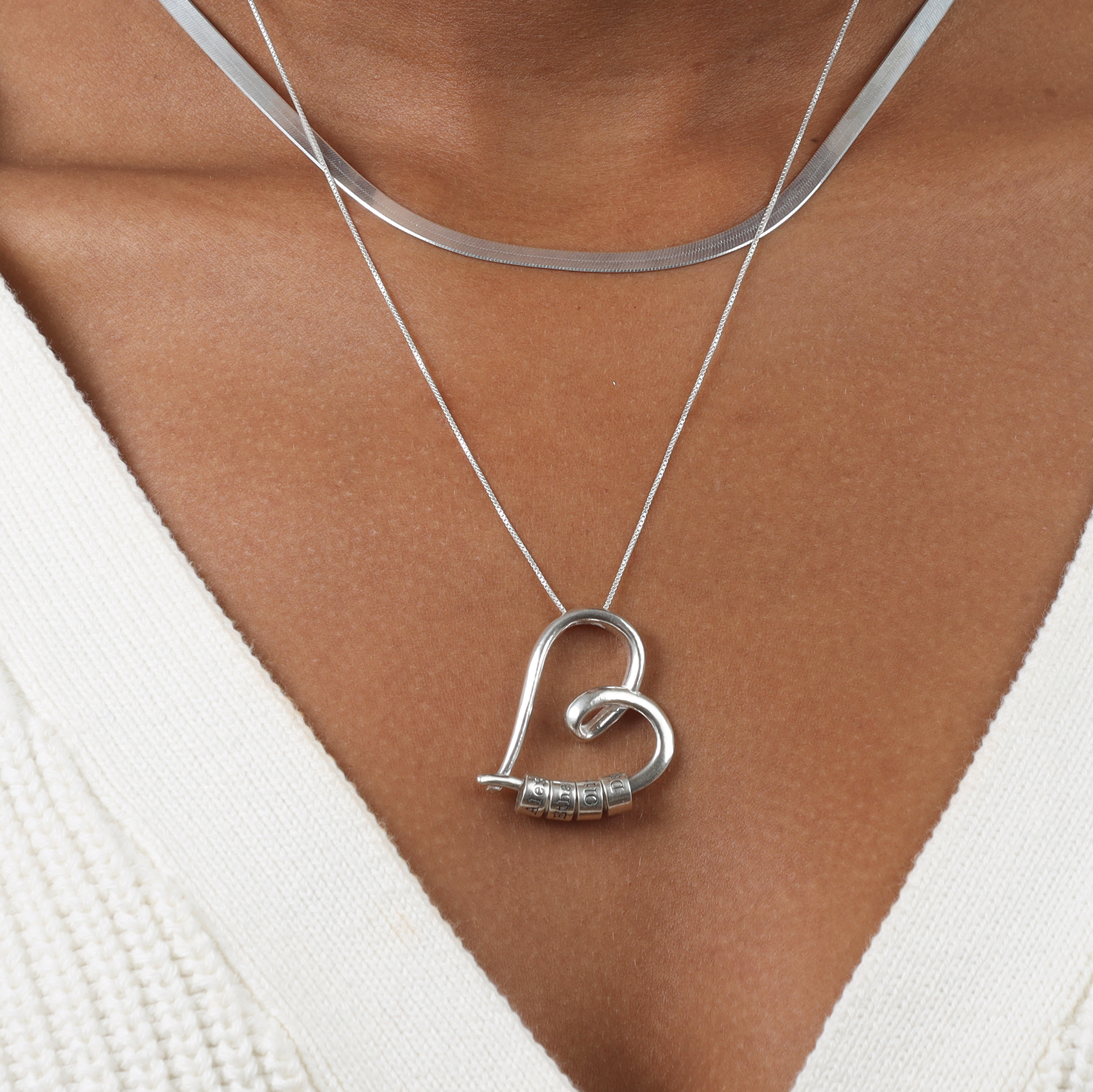 ties of the heart name necklace