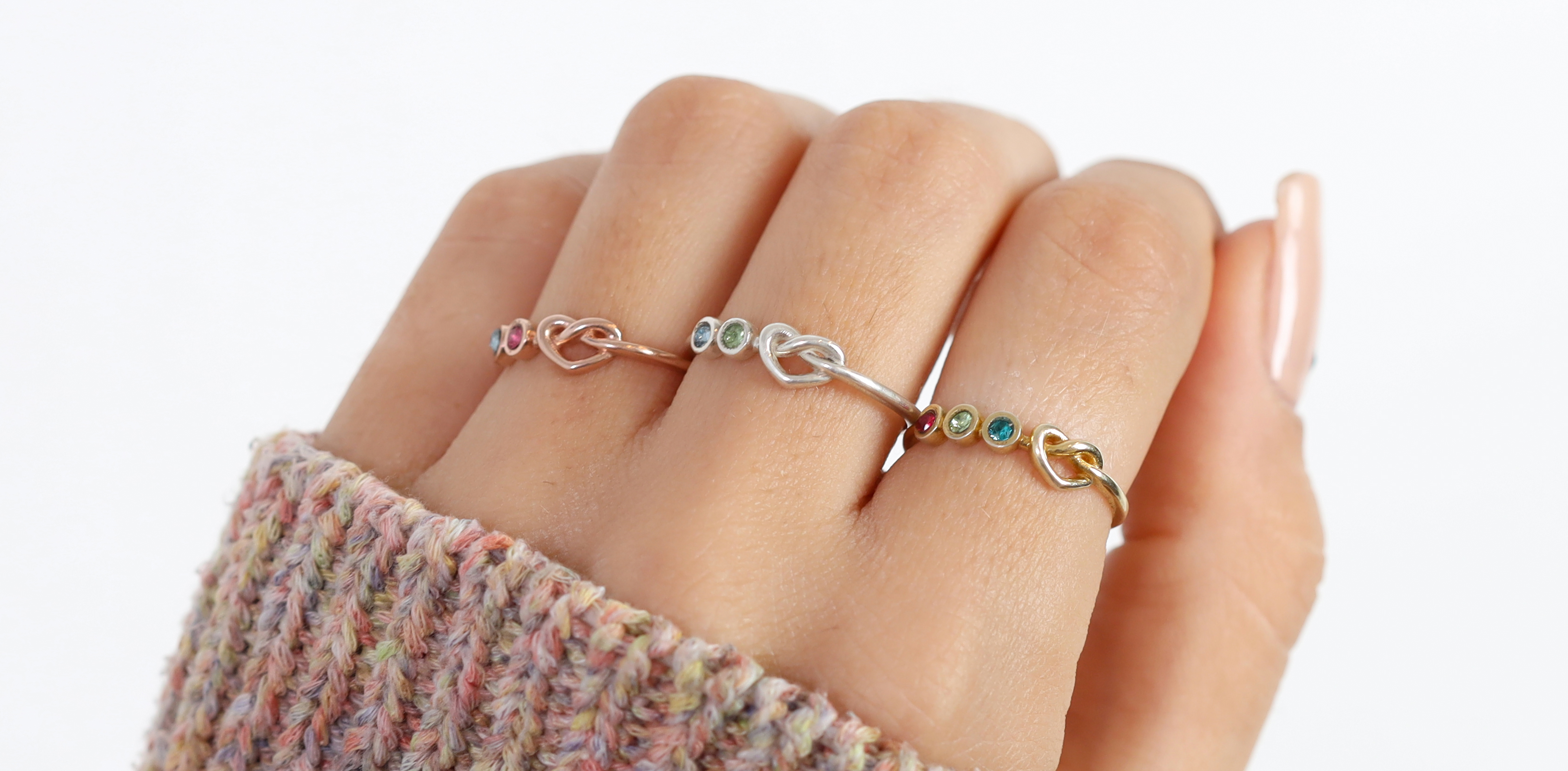 Ties of the Heart Birthstone Ring
