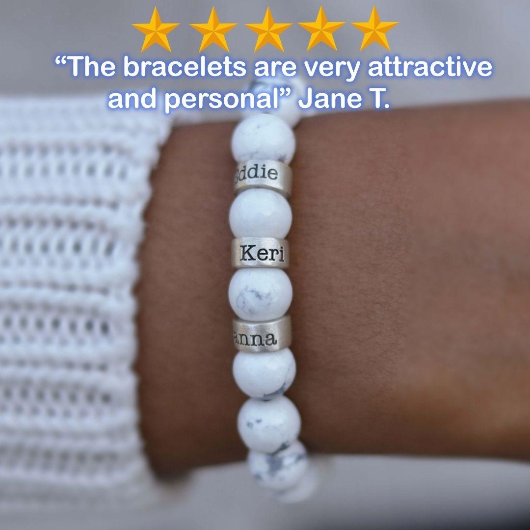 Howlite Name Bracelet