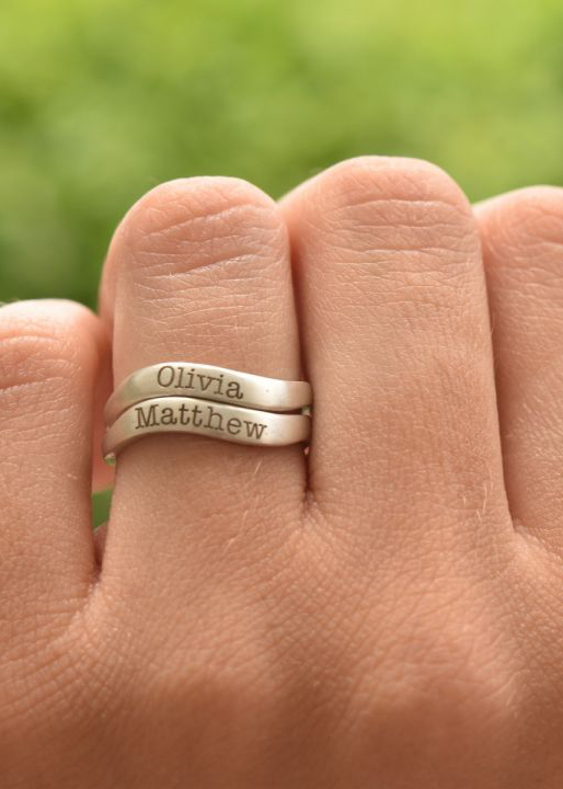 Ocean Tide Name Ring [Sterling Silver]