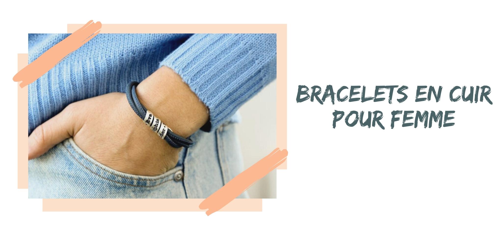 Bracelets en Cuir pour Femme
