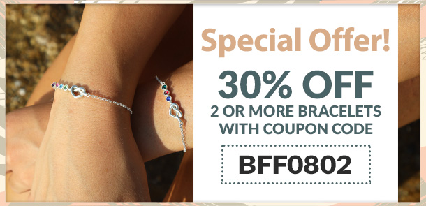 two bracelets at 30% Off