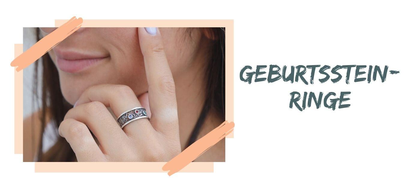 Geburtsstein-Ringe