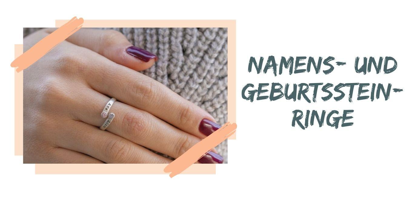 Namens- und Geburtsstein-Ringe